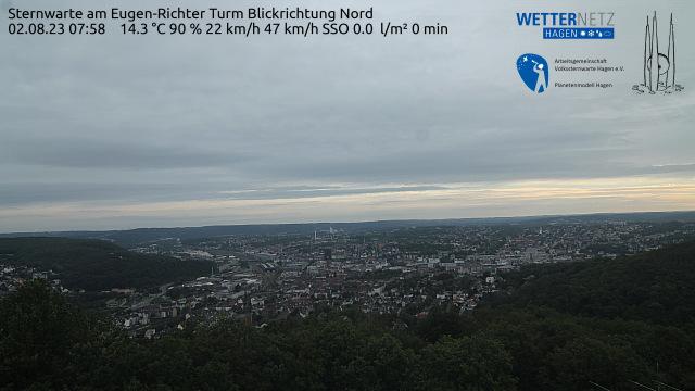 Blick �ber Hagen vom Eugen-Richter-Turm an der Sternwarte